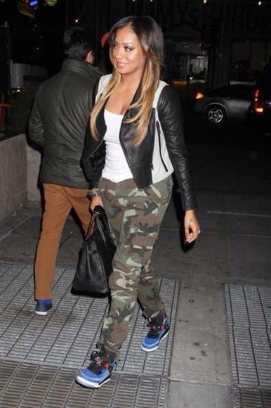 jacket celebrity style streetstyle pants lala anthony shoes