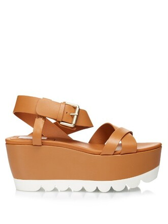 sandals flatform sandals tan shoes