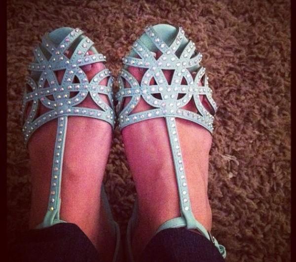 shoes blue sandals light blue sandals sparkly flats flats blue flats