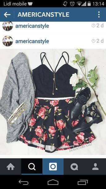 skirt flowers flowered skirt flowered skate skirt skater skirt shoes