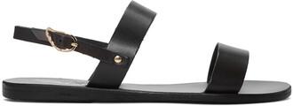 sandals leather black black leather shoes
