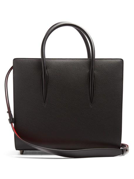 christian louboutin leather black bag