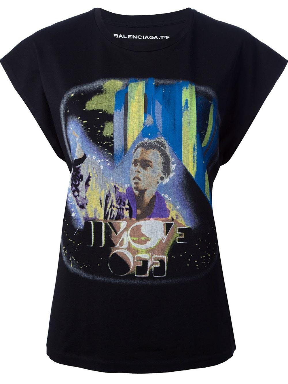 896cf51e7fb1 Balenciaga Printed T-shirt - - Farfetch.com