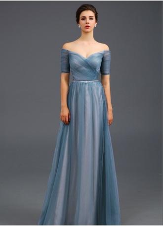 dress pastel periwinkle maxi dress formal performance