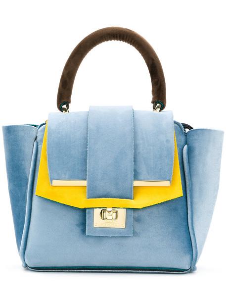 Alila mini women bag tote bag blue velvet neoprene