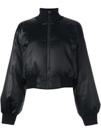 jacket bomber jacket satin bomber satin black