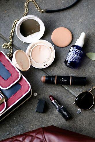 make-up powder tumblr lipstick dior face makeup dark lipstick foundation cosmetics
