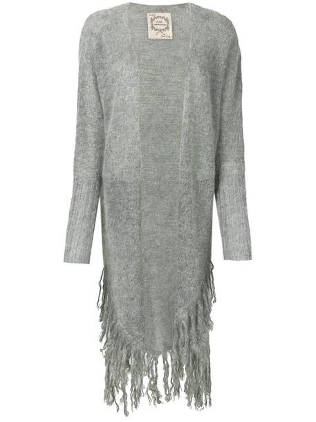 cardigan cardigan long women mohair wool grey sweater
