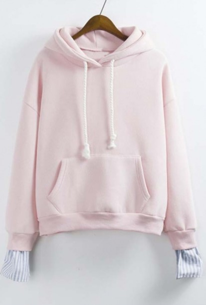 sweater light pink cute pastel girly fashion style trendy pink cool beautifulhalo girl girly wishlist pink hoodie hoodie pink sweater