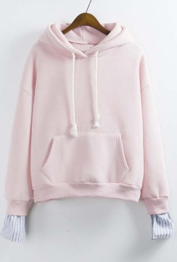 sweater light pink cute pastel girly fashion style trendy pink cool beautifulhalo girl girly wishlist pink hoodie hoodie pink sweater