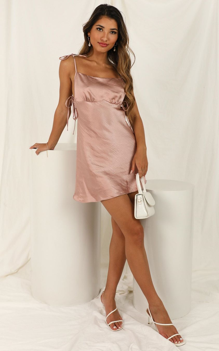 Showpo Play A Song dress in mauve satin - 6 (XS) Hens Night