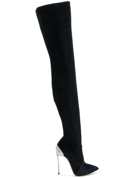 CASADEI heel women leather black shoes