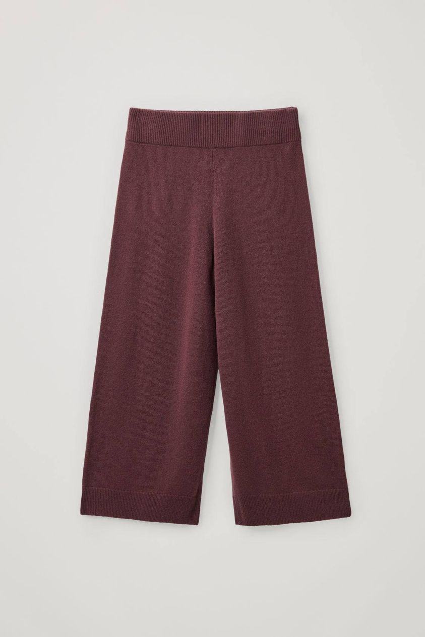 RECYCLED CASHMERE WIDE-LEG TROUSERS