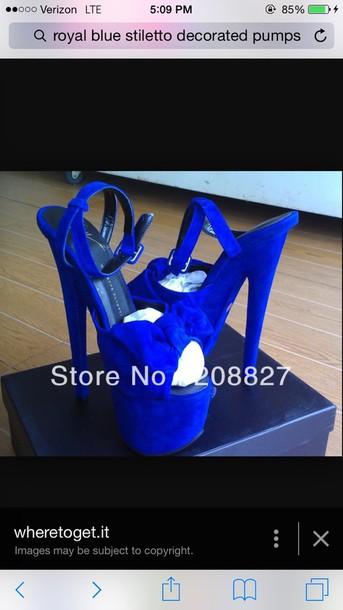 shoes royal blue pumps