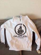 sweater,divergent,white,dauntless