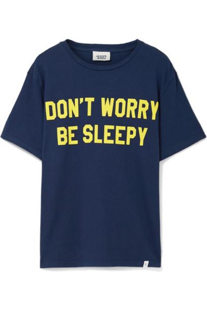 Sleepy Jones t-shirt shirt cotton t-shirt t-shirt cotton blue top