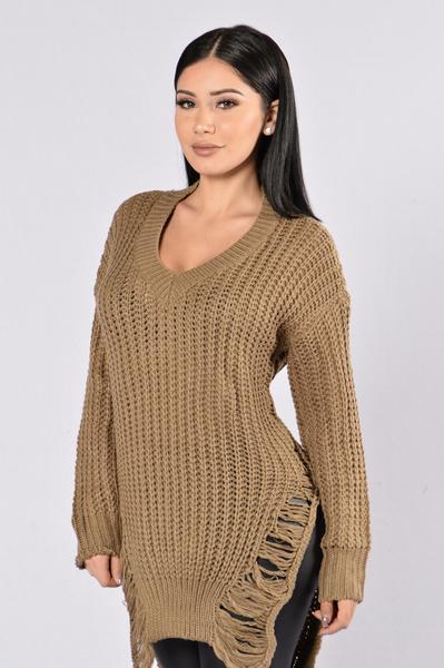 Unwind Sweater - Olive | Fashion Nova
