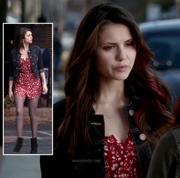 jacket nina dobrev the vampire diaries the vampire diaries red dress shorts black friday cyber monday