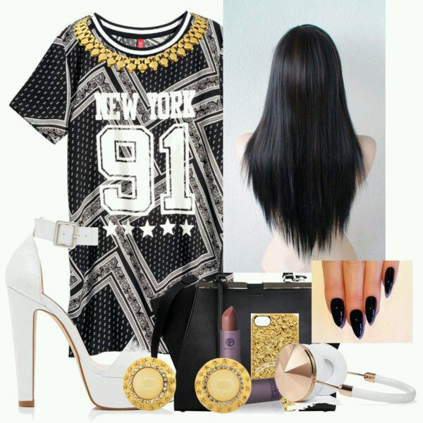 dress swag black and white dress weave jeans shoes
