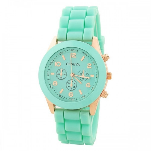 Summer mint silicone watch – glamzelle