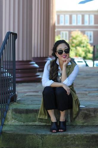 gracefullee made blogger jacket shirt pants jewels sunglasses make-up shoes