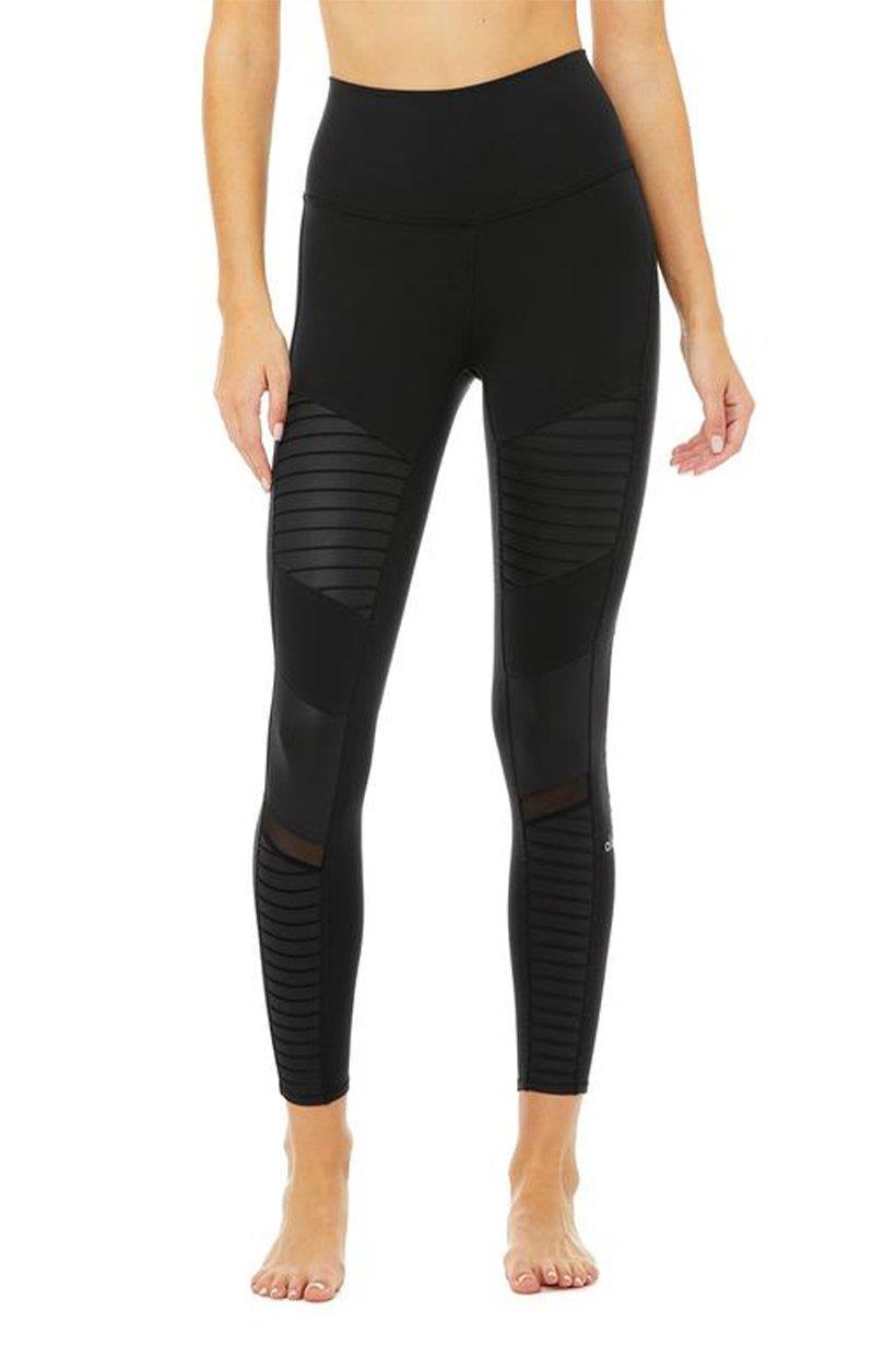 Alo Yoga 7/8 High-waist Moto Legging - Black - S Black UK S Black