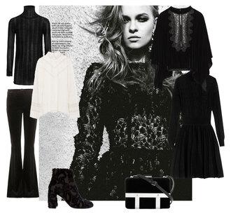 look de pernille blogger mini shoulder bag velvet dress