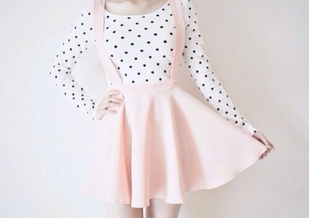 Skirt Pastel Pink Dress Shirt Skirt Pink Overall