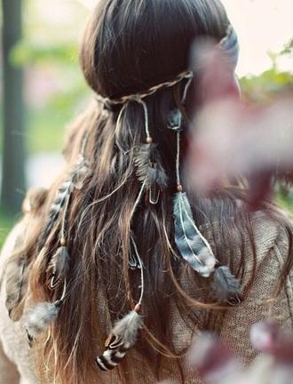 hair accessory feathers headpiece headband bohemian boho bohemian style