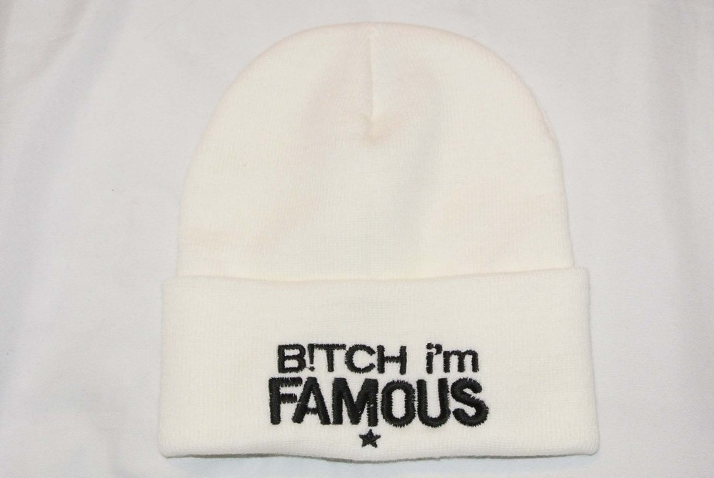 BITCH IM FAMOUS Beanie Hat  / Snapback Village