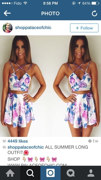 jumpsuit floral dress fashion shorts top summer dress