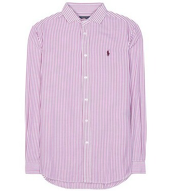 shirt cotton purple top