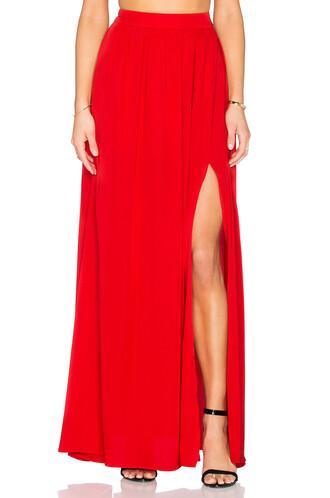 skirt maxi skirt maxi red
