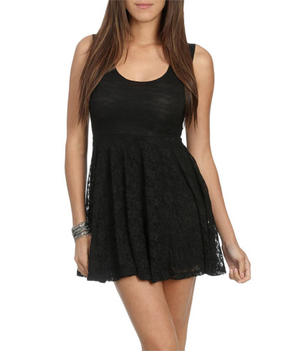 Open Back Lace Skater Dress Shop Lace Crochet At Wet Seal