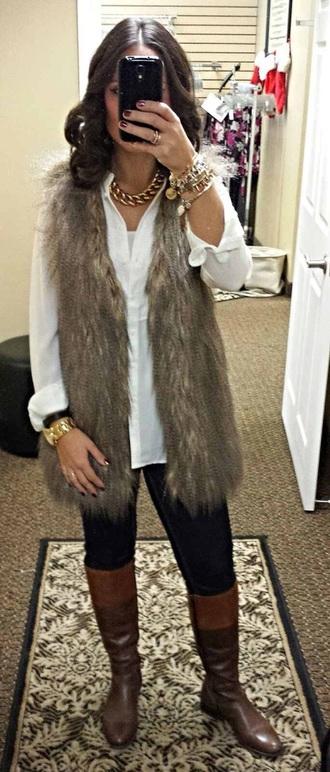 jacket faux fur faux fur vest