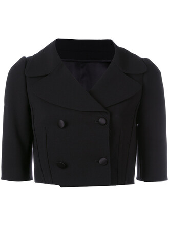 jacket cropped jacket cropped women spandex black silk wool