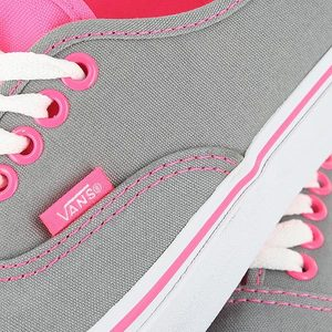 Vans Authentic Neon Pink Pop Frost Grey Womens US Size 6 #0: xtb42r i