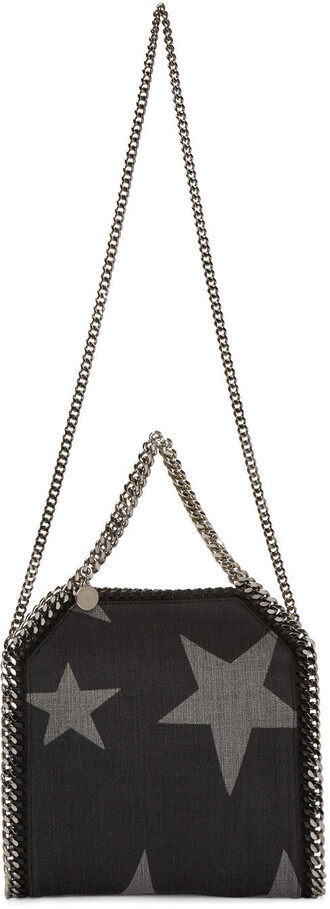 denim mini black stars bag