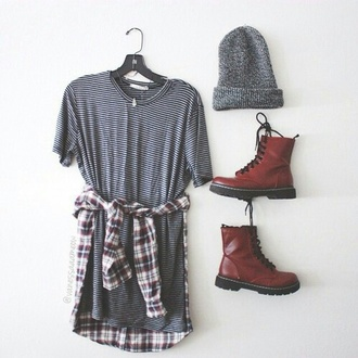 dress shoes boots cute dress t-shirt dress striped dress beanie flannel shirt fashion blouse hat shorts cardigan tank/t shirt dress t shirt. stripes shirt clothes blogger brand celebtrities brands series movies grunge grey dress