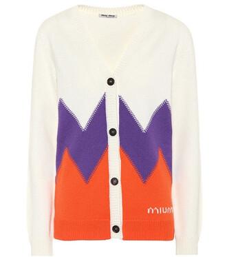 cardigan wool chevron sweater