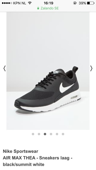 shoes nike air max thea black sneakers nike nike sneakers