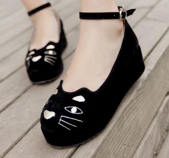 japan cats black kawaii kawaii grunge cute shoes
