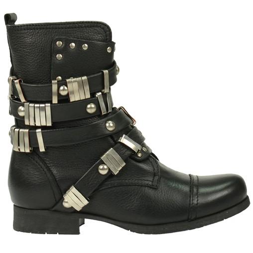 Zwarte biker boots // enkellaarsjes  // SACHA