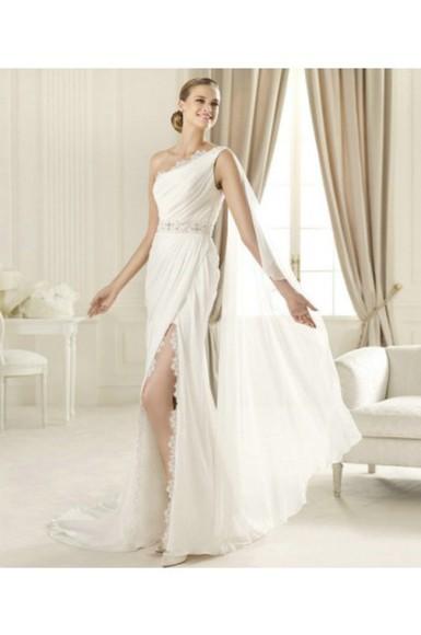 wedding dress oneshoulder dress