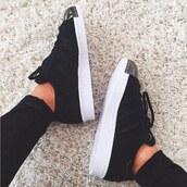 shoes,adidas,superstar,black,white,metal,90
