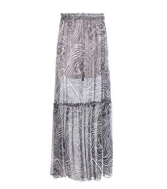 skirt maxi skirt maxi chiffon silk blue