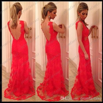 dress prom dress backless lace