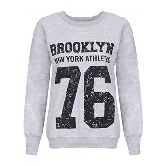 Cima mode's ladies brooklyn new york athletic 76 varsity top sweatshirt 8