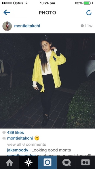 yellow jacket lauren ralphlaurenjacket ralphlauren expensive ralph lauren