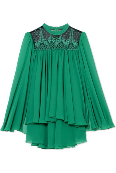 Philosophy di Lorenzo Serafini top cape chiffon embroidered